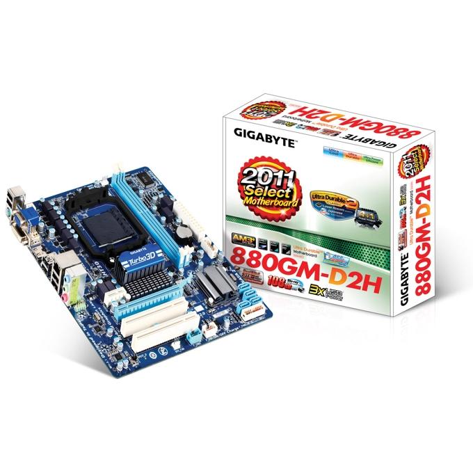 Дънна платка Gigabyte 880GM-D2H AMD JAR Computers