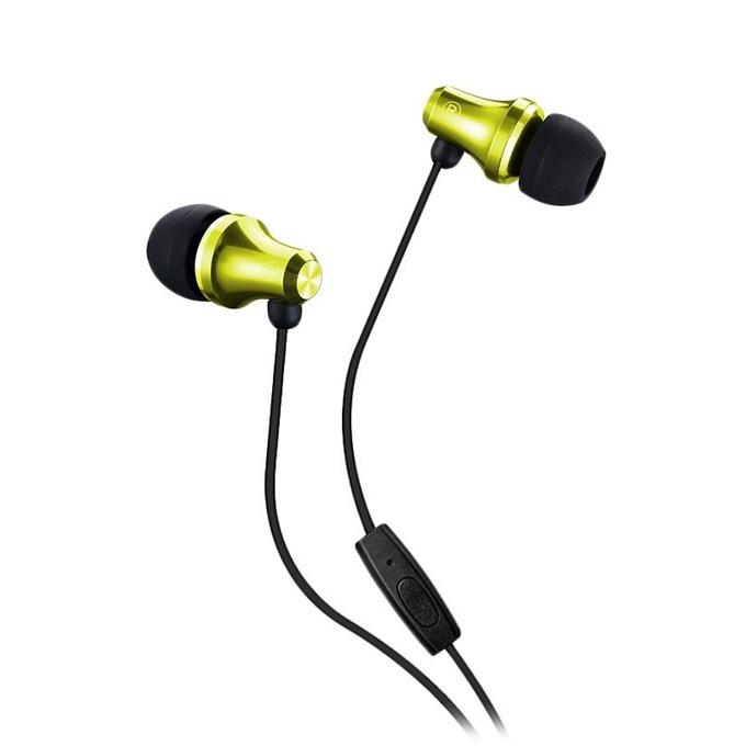 "Слушалки Fenda Spiro E260, микрофон, тип ""тапи"", бутон за разговори, жълти image"