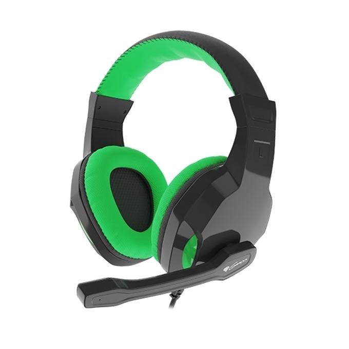 Слушалка Genesis Argon 100, микрофон, черни/зелени image