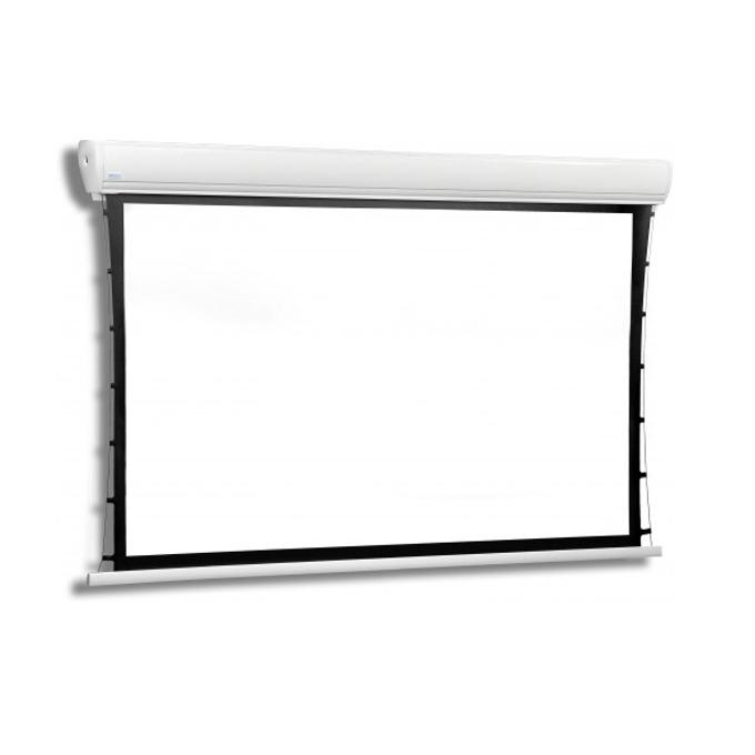Екран Avers AKUSTRATUS 2 24-18 MW BB, електрически екран за стена/таван, Matt White, 2400 x 1830mm, 4:3, черна рамка image