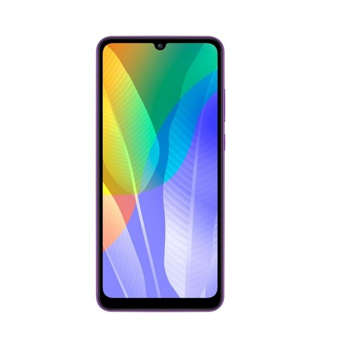 """Смартфон Huawei Y6p Merida-L49C (лилав), поддържа 2 SIM карти, 6.3"""" (16.00 cm) HD+ IPS дисплей, осемядрен Mediatek MT6762R 2.0 GHz, 3GB RAM, 32GB Flash памет (+ microSD слот), 13.0 & 5.0 & 2.0 MPix камера, EMUI 10.1 image"""