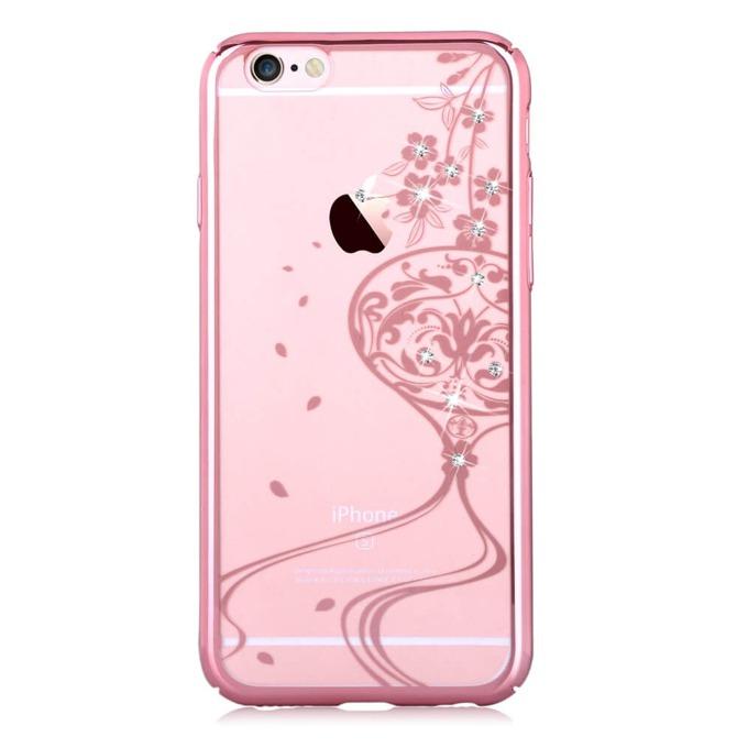 Калъф за Apple iPhone 6/6S, страничен протектор с гръб, поликарбонат, Devia Secret Garde, розов image