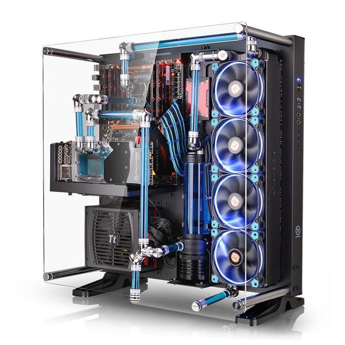Кутия Thermaltake Core P5, ATX/mATX/mini-ITX, 2x USB 3.0, прозрачен дизайн, вертикален/хоризонтален/стенен монтаж, черна, без захранване image