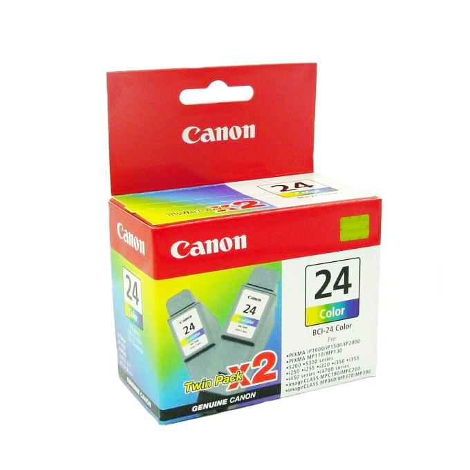 ГЛАВА CANON iP 1000/1500/2000/S200/300/i250/320/450 - Color twin pack - BCI-24C - заб.: 2x15ml. image