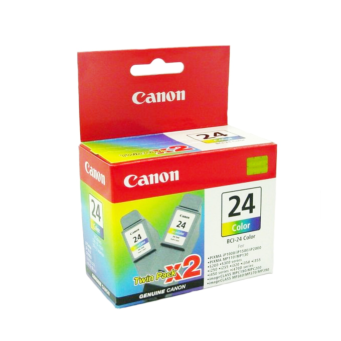 ГЛАВА CANON iP 1000/1500/2000/S200/300/i250/320/450 - Color twin pack - BCI-24C - заб.: 2x15ml. image
