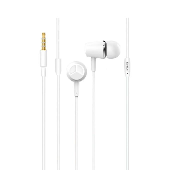 "Слушалки Earldom ET-E11, микрофон, 1.2 m. кабел, тип ""тапи"", 3.5 mm jack, бяли image"