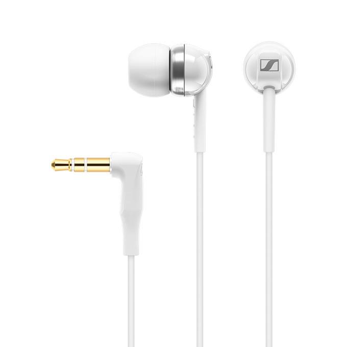 "Слушалки Sennheiser CX 100, тип ""тапи"", позлатен стерео жак, бели image"