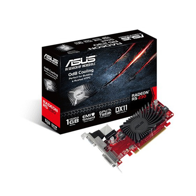 Видео карта AMD R5 230, 1GB, Asus R5230-SL-1GD3-L, PCI-E 2.1, DDR3, 64bit, HDMI & DVI image