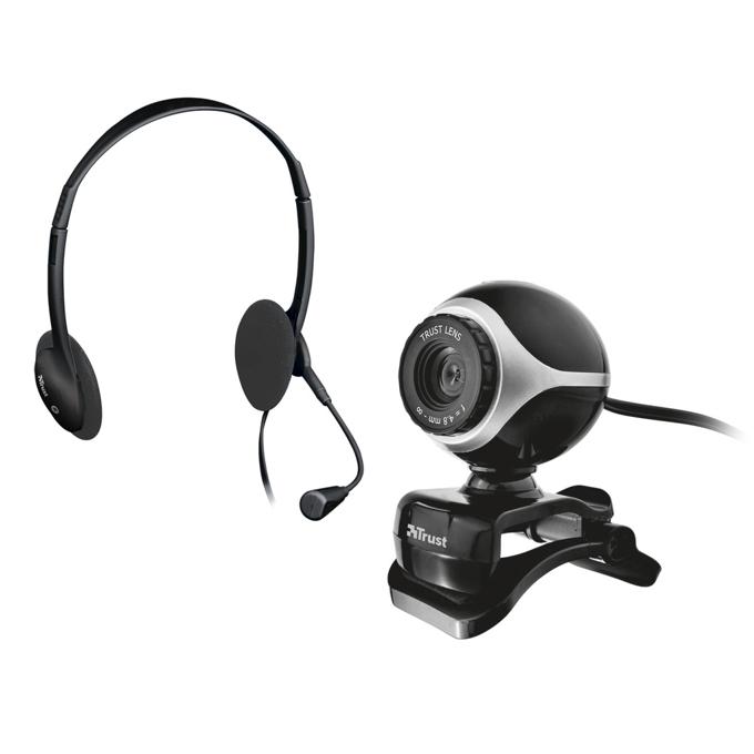 Уеб камера Trust Exis ChatPack, 640x480, микрофон, +слушалки с микрофон image
