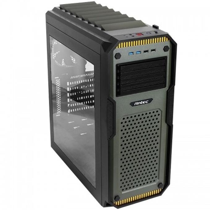 Кутия Antec ATX Gaming GX909 Window, ATX, 2x USB 3.0, черна/зелена, без захранване image