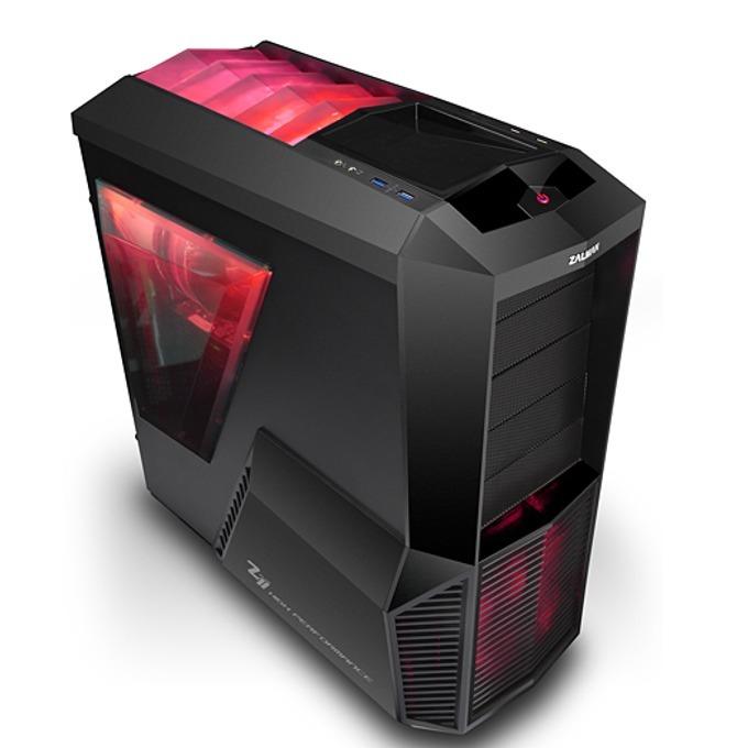 Кутия Zalman Z11 PLUS HF1, ATX, 2x USB3.0, черна, без захранване image