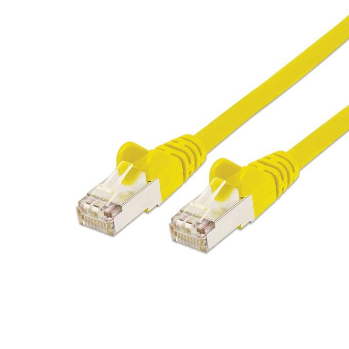 Пач кабел Intellinet, FTP, Cat.5e, 0.5m, жълт image