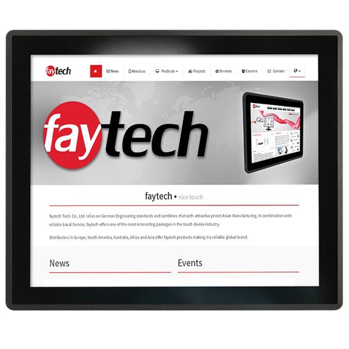 """Индустриален компютър FAYTECH FT19V40M400W1G4GCAP, 19""""(48.26 cm) мулти-тъч сензорен дисплей, четириядрен Allwinner V40, 8GB еMMC, 2x USB, Android image"""
