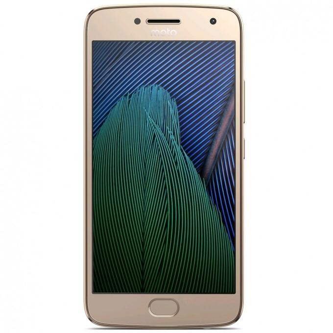 "Motorola MOTO G5+ (златист), поддържа 2 sim карти, 5.2"" (13.21 cm) Full HD IPS дисплей, осемядрен Snapdragon 625 2.0 GHz, 3GB RAM, 32GB Flash памет (+microSD слот), 13MP & 5MP, Android, 155g image"