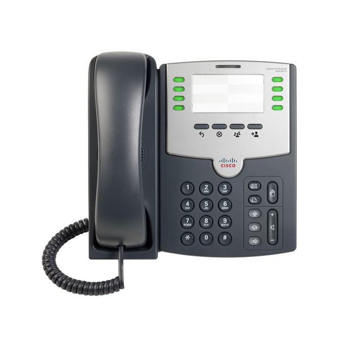 VoIP Телефон, Cisco SPA501G, 8 Line, PoE and PC Port image