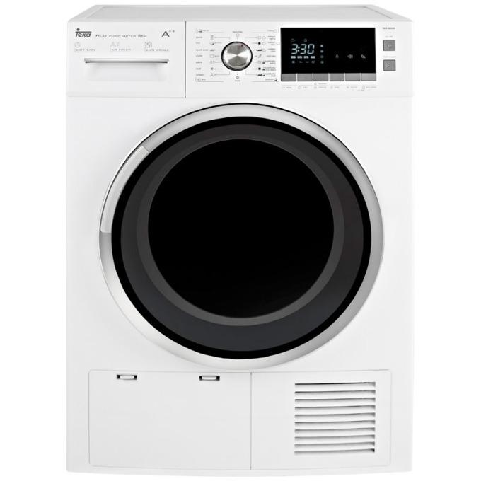 Сушилня Teka Wish TKS 850 C, B, 8 кг. капацитет, 16 програми, свободностояща, 61.5 cm ширина, LED индикация, Speed Dry, отложен старт, бяла image