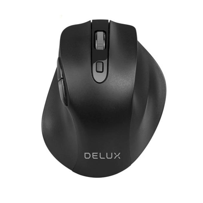 Мишка Delux M517GX, оптична(1600dpi), безжична, USB, черна  image