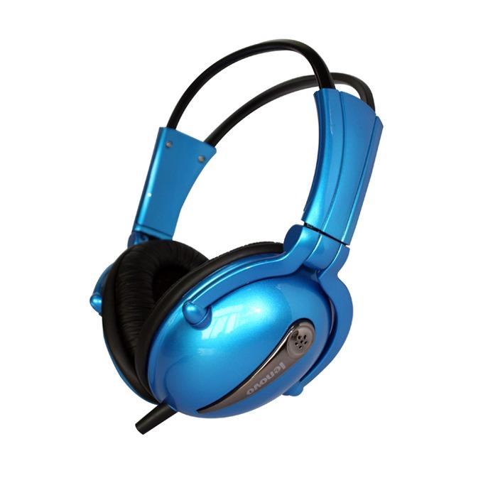 Слушалки Lenovo P723, сини, микрофон, mini jack 3.5mm image