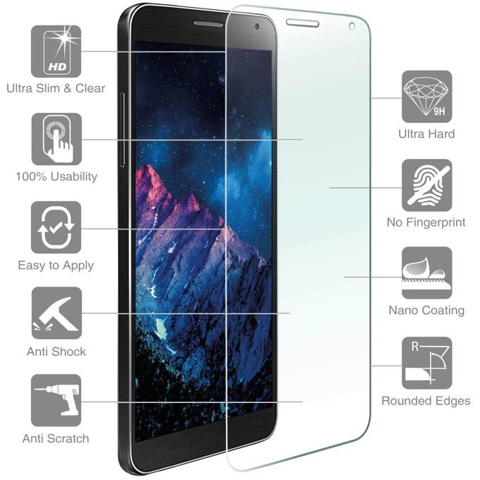 Протектор от закалено стъкло /Tempered Glass/ 4smarts Second Glass Plus , iPhone 7, 1x микрофибърна и мокра кърпички,уред за поставяне + антистатична лепенка, прозрачен image