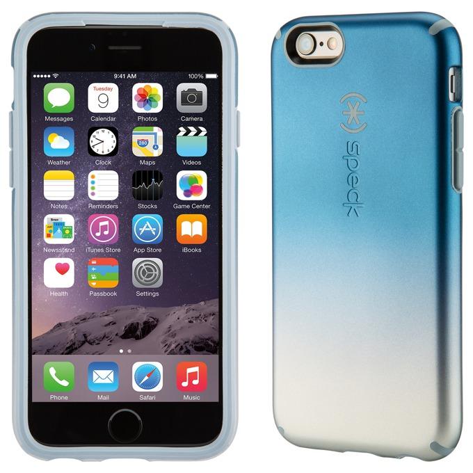 Страничен протектор с гръб Speck за iPhone 6S, синьо омбре image