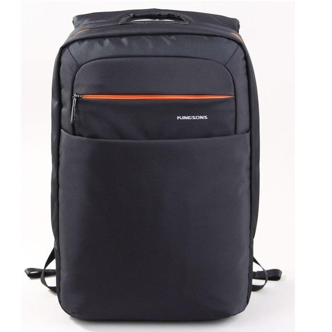 "Раница за лаптоп Kingsons KS6141W-B, до 15.6"" (39.60cm), водонепромокаема, черна image"
