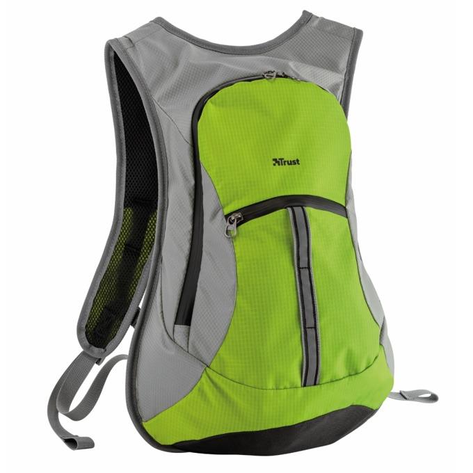 Раница за лаптоп Trust Zanus Weatherproof Sports Lime Green, зелено-сива image