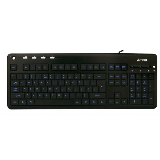 Клавиатура A4Tech KD-126, slim, подсветка, 5 клавиша за бърз достъп, USB image