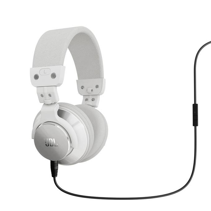 Слушалки JBL Bassline, микрофон, бели image