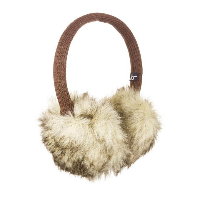 Слушалки KitSound Natural Fur Audio Earmuffs, 40mm говорители, 3.5mm jack, 103dB, кафяви image