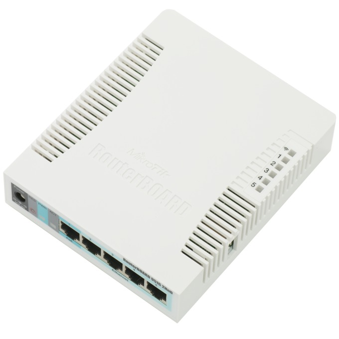 Точка за достъп MikroTik RB951G-2HnD, 2.4GHz, Wireless N, 1000mW, 5x Gbit RJ45, USB image
