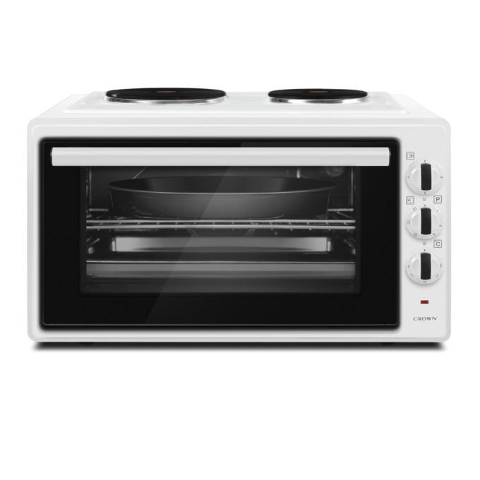 Готварска печка Crown MDO-42WE, 1600W, 42 л. обем, 2 котлона, енергиен клас A, бяла image