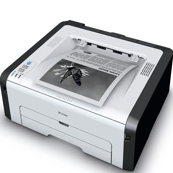 Лазерен принтер RICOH SP213W, монохромен, A4, 1200х600dpi , 22стр/мин, USB, WiFi image