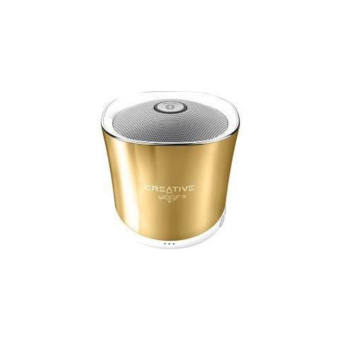 Тонколона Creative Woof 3, 1.0, Bluetooth 2.1, Micro USB, златиста, microSD, преносима image