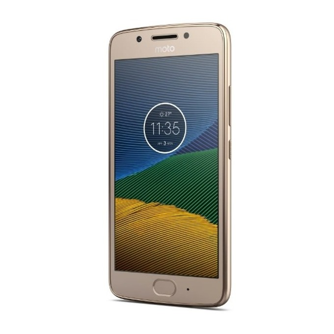 "Motorola MOTO G5 (златист), поддържа 2 sim карти, 5"" (12.7 cm) Full HD IPS, осемядрен Snapdragon 430 1.4 GHz, 3GB RAM, 16GB Flash памет (+microSD слот), 13.0 & 5.0 Mpix camera, Android, 145g image"