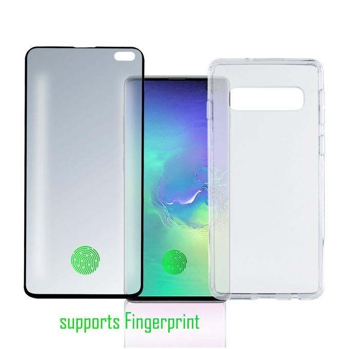 Калъф за Samsung Galaxy S10 Plus, 4smarts 360° Premium Protection Set UltraSonix, термополиуретан, прозрачен image