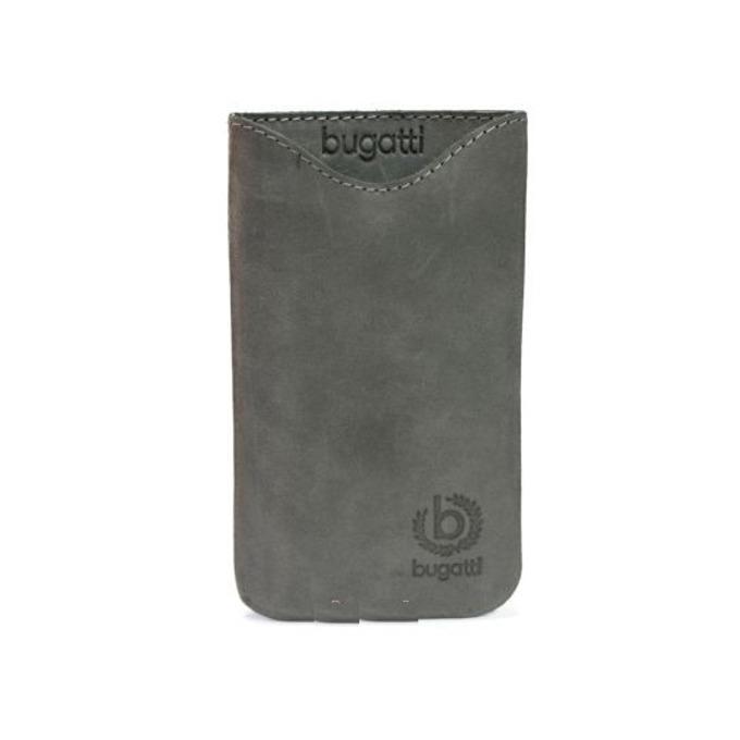 Универсален калъф, джоб, естествена кожа, Bugatti Umber Note, сив image