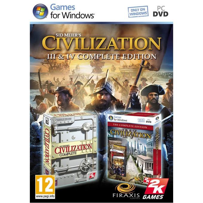 Игра Civilization III & IV Complete, за PC image