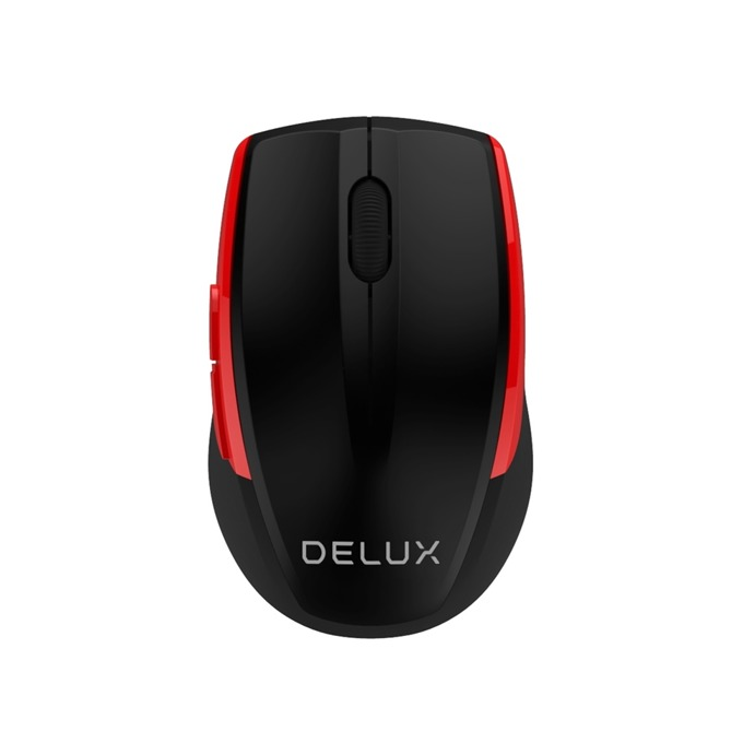 Мишка Delux DLM-521GX, безжична(2.4GHz), оптична (1600 dpi), USB, черна image