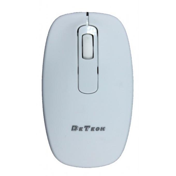 Мишка DeTech 4D, оптична (800-1600dpi), USB, бяла image