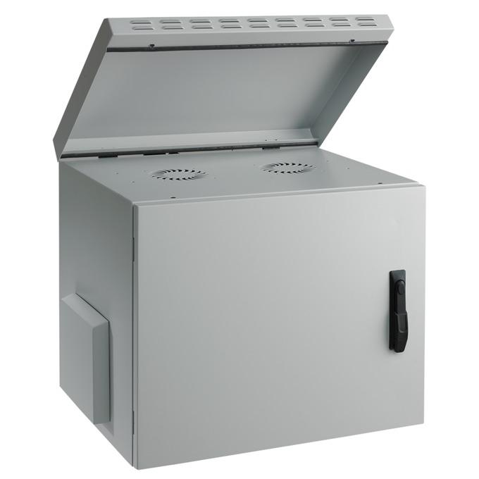 "Комуникационен шкаф Mirsan MR.IP55W12U45.02, 19"", 12U, 450mm, 100 кг товар, бял, за стена, Outdoor image"