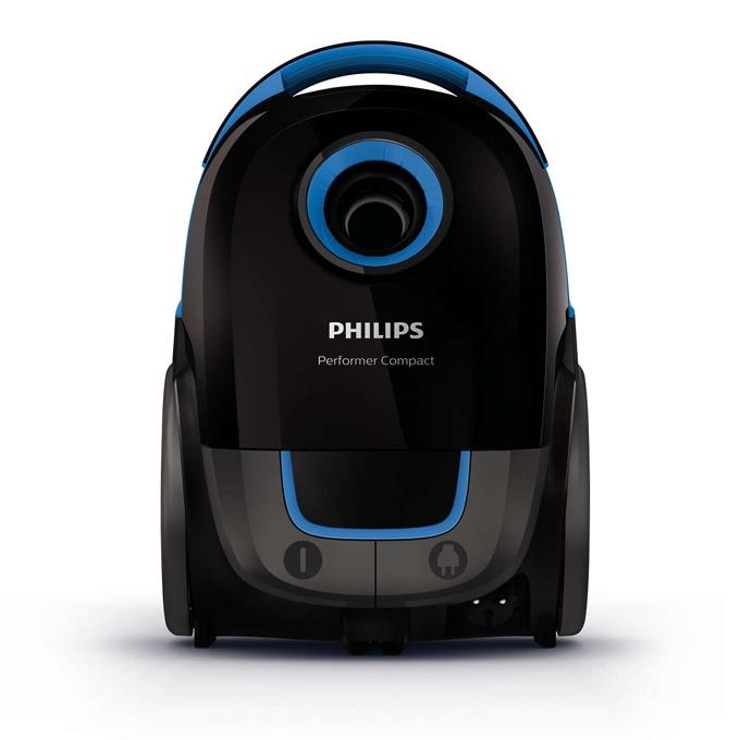 Прахосмукачка Philips Performer Compact FC8371/09, с торба, 750 W, 3 л. капацитет на торбата, енергиен клас A, Super Clean Air филтър, AirflowMax технология, черна image