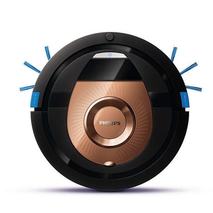Прахосмукачка Philips SmartPro Compact FC877601, робот, безжична, 0.3 л. капацитет на контейнера, до 130 мин. работа, 4 режима, TriActive XL накрайник, черна image
