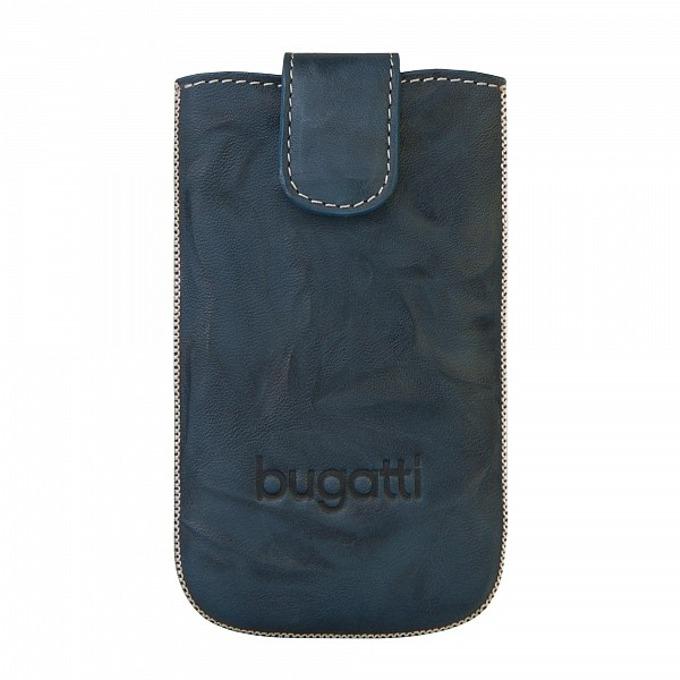 Универсален калъф, джоб, естествена кожа, Bugatti Unique Leather Case S, син image