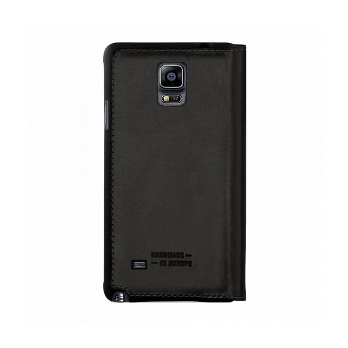 Калъф за Samsung Galaxy Note 4, отваряем, естествена кожа, Bugatti BookCover Oslo, черен image