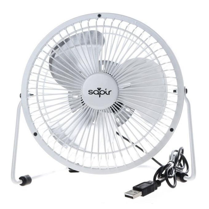 Настолен вентилатор Sapir SP 1760 USB4, 5V, 10 cm диаметър, 2.5W, бял image