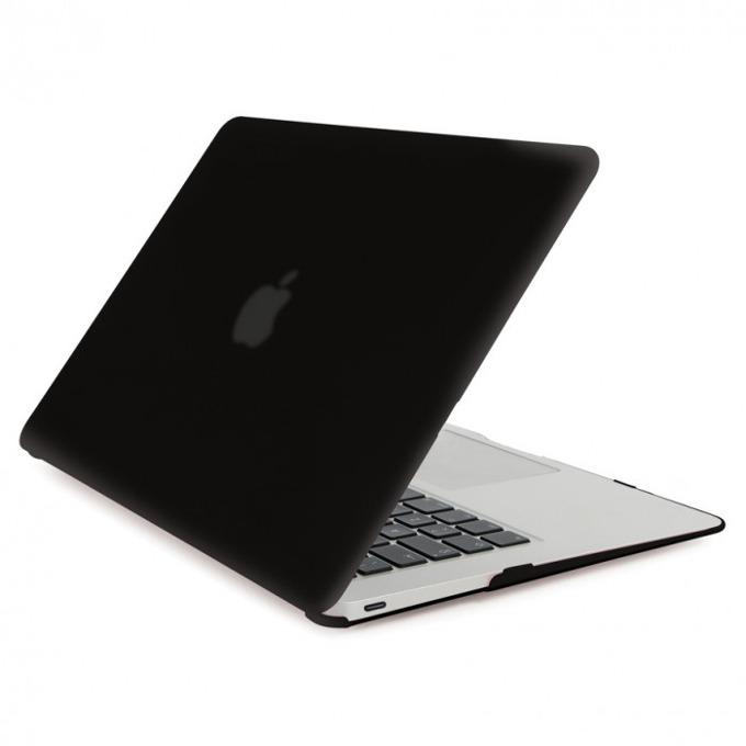 Протектор Tucano Nido Hard Shell Case за MacBook 12, матиран, черен-прозрачен image