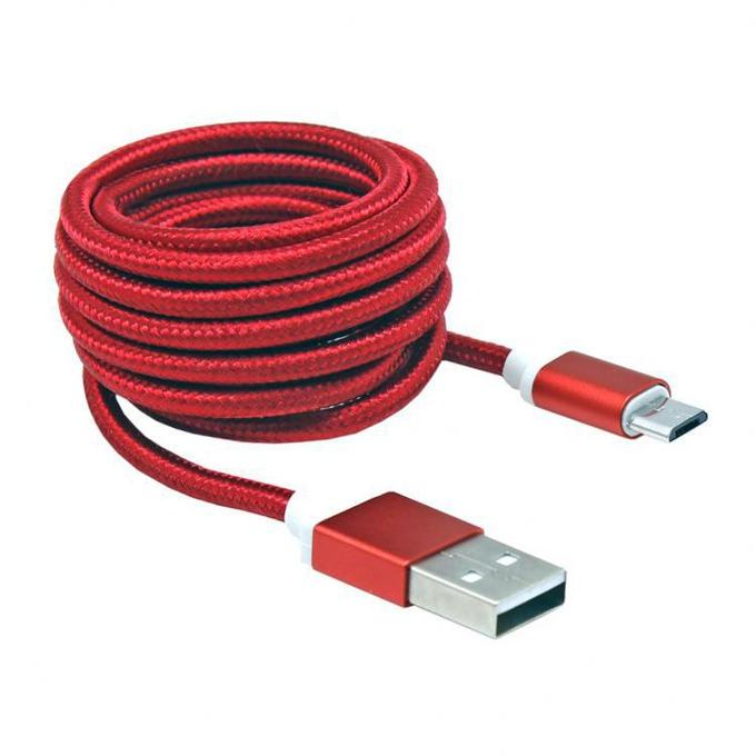 Кабел SBOX USB AM-MICRO-15R, от USB A(м) към USB Micro B(м), 1.5m, сплетена обвивка, червен image