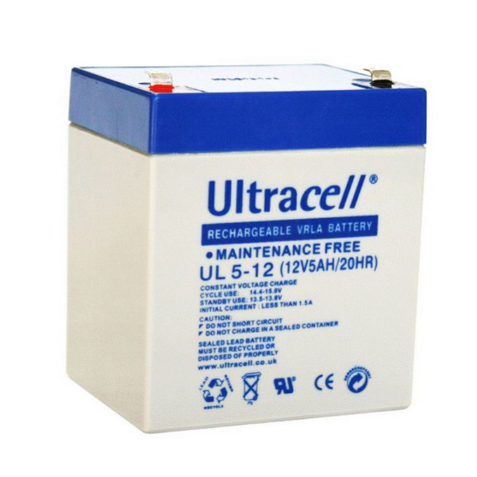 Акумулаторна батерия Ultracell 5-12, 12V, 5Ah image