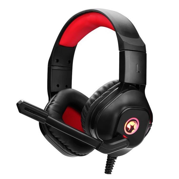 Слушалки Marvo HG8929, микрофон, гейминг, LED, черно-червени image