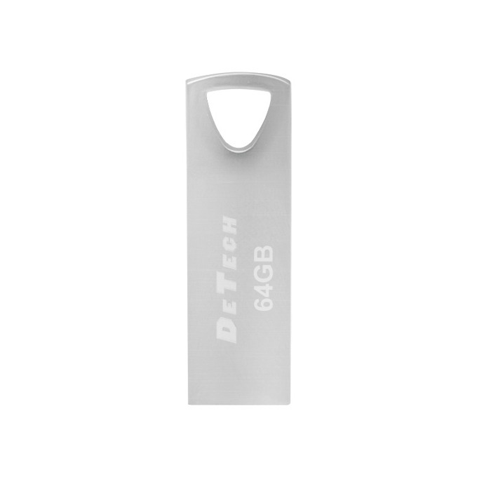 Памет 64GB USB Flash Drive, DeTech, USB 3.0, сребриста image